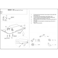 BMW X5 (Automaticgetriebe schutz) außer 4.8 - Stahl