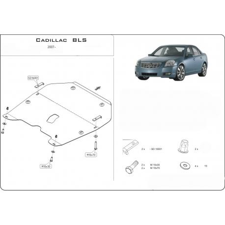 Cadillac BLS Motor und Getriebeschutz 2.0 - Stahl