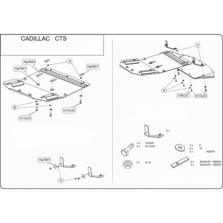 Cadillac CTS Unterfahrschutz 3.2, 3.6 - Stahl