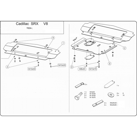 Cadillac SRX Unterfahrschutz 3.6 - Stahl