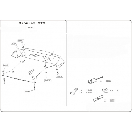 Cadillac STS Unterfahrschutz 4.6 - Stahl