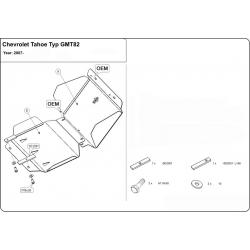 Chevrolet Tahoe Unterfahrschutz 5.3, 6.2 - Stahl