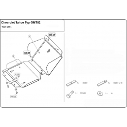 Chevrolet Tahoe Unterfahrschutz 5.3, 6.2 - Alluminium