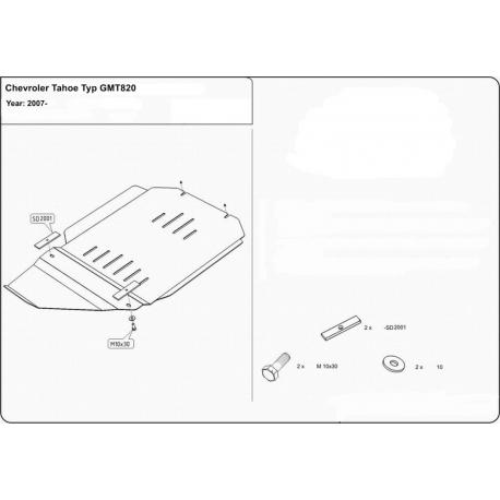 Chevrolet Tahoe Getriebeschutz 5.3, 6.2 - Stahl