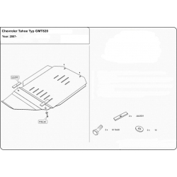 Chevrolet Tahoe Getriebeschutz 5.3, 6.2 - Alluminium