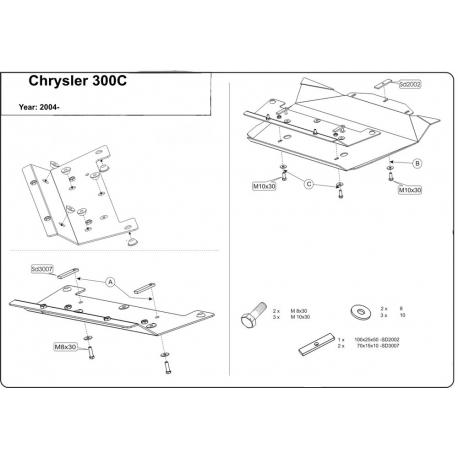 Chrysler 300 C Unterfahrschutz 5.7, 6.1 - Stahl