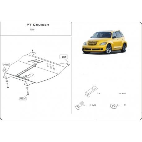 Chrysler PT Cruiser Motor und Getriebeschutz 1.6, 2.2 CRD, 2.4 - Stahl