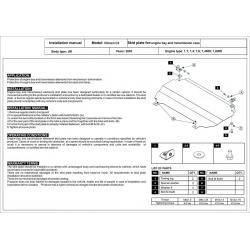 Citroen C2 Motor und Getriebeschutz - Stahl