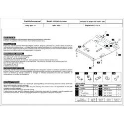 Citroen C4 Aircross Motor und Getriebeschutz 2.0AT - Stahl