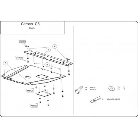 Citroen C5 Motor und Getriebeschutz - Stahl