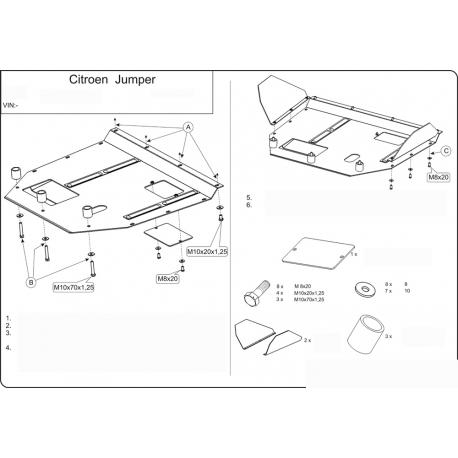 Citroen Jumper Motor und Getriebeschutz - Stahl
