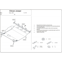 Citroen Jumper Motor und Getriebeschutz 2.2 HDi, 3.0 HDi - Stahl