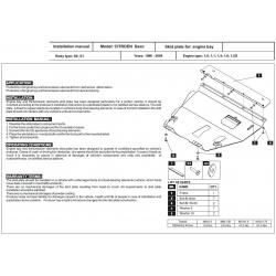 Citroen Saxo Unterfahrschutz - Stahl