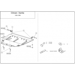 Citroen Xantia Motor und Getriebeschutz - Stahl