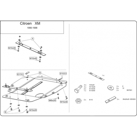 Citroen XM Unterfahrschutz - Stahl