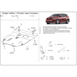 Dodge Caliber Motor und Getriebeschutz 1.8, 2. 0 - Alluminium