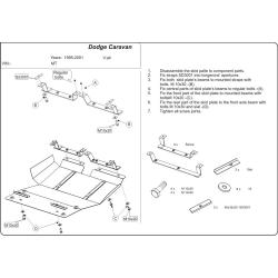 Dodge Caravan II Motor und Getriebeschutz - Stahl