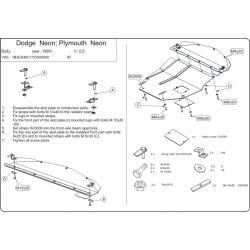 Dodge Neon II Motor und Getriebeschutz 1.6, 2.0 - Stahl