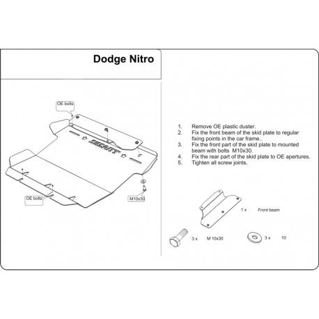 Dodge Nitro Unterfahrschutz 2.8CRD, 3.7, 4.0 - Stahl