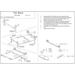 Fiat Brava / Bravo Motor und Getriebeschutz 1.6 - Stahl
