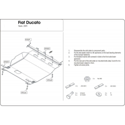 Fiat Ducato Motor und Getriebeschutz 2.2HDi,2.3 TD,2.5TD, 3.0HDI - Stahl