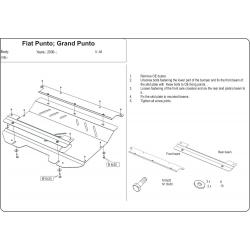 Fiat Grande Punto Motor und Getriebeschutz - Stahl