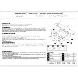 Fiat Punto Motor und Getriebeschutz - Stahl