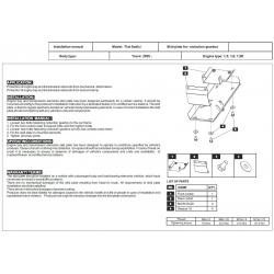 Fiat Sedici (Schutz für Differential der hinteren Achse) - Alluminium