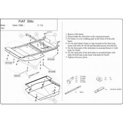 Fiat Stilo Motor und Getriebeschutz - Stahl