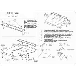 Ford Focus Motor und Getriebeschutz - Stahl