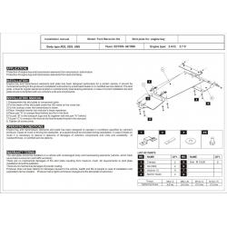 Ford Maverick Motor und Getriebeschutz 2.4, 2.7 D - Stahl