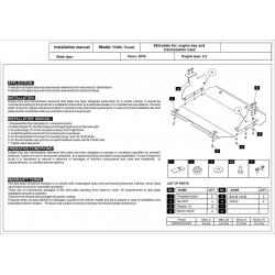 Ford Transit Frontantrieb Motor und Getriebeschutz 2.2 TDCi - Stahl