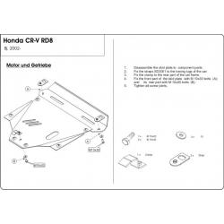 Honda CR-V II Motor und Getriebeschutz - Alluminium