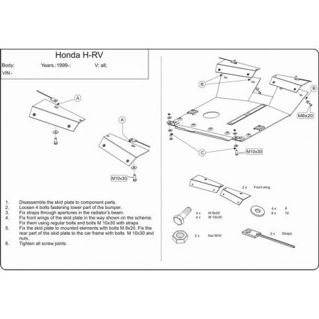 Honda HR-V Motor und Getriebeschutz 1.6, 2.0 - Stahl