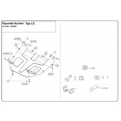 Hyundai Accent Motor und Getriebeschutz - Stahl