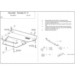 Hyundai Sonata IV / V Motor und Getriebeschutz - Stahl