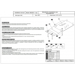 Isuzu D - Max Getriebeschutz 2.5 TD, 3.0 TD - Stahl