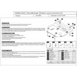 Jeep Compass Motor und Getriebeschutz 2.0 CRD, 2.4 - Stahl