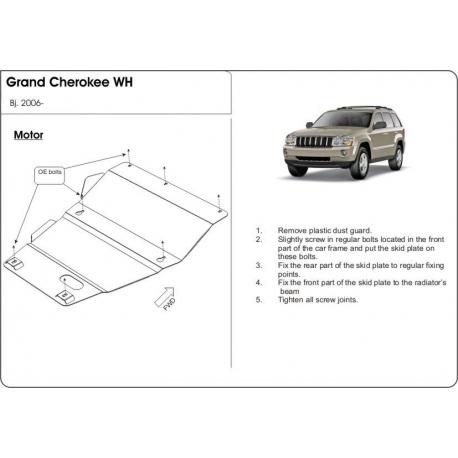 Jeep Grand Cherokee Unterfahrschutz - Stahl
