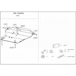 KIA Carens Motor und Getriebeschutz 1.6, 1.8 - Stahl