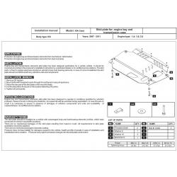 KIA Cerato Motor und Getriebeschutz 1.6, 2.0 - Stahl