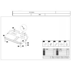 KIA Opirus Motor und Getriebeschutz 3.8 - Stahl