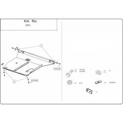 KIA Rio I Motor und Getriebeschutz - Stahl