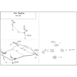 KIA Sephia Motor und Getriebeschutz 1.5, 1.6, 1.8 - Stahl