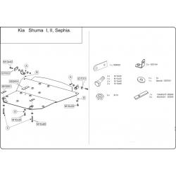 KIA Shuma II Motor und Getriebeschutz - Stahl
