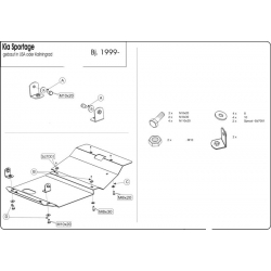 KIA Sportage USA Unterfahrschutz - Stahl