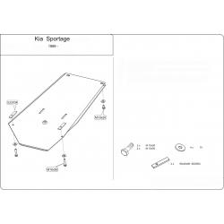 KIA Sportage USA Getriebeschutz - Stahl
