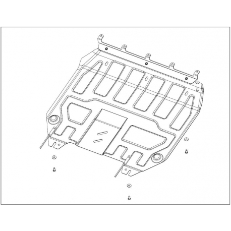 KIA Venga Motor und Getriebeschutz 1.4, 1.6 - Stahl