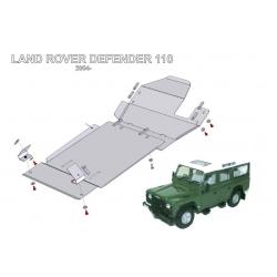 Land Rover Defender 90 / 110 Getriebeschutz - Alluminium