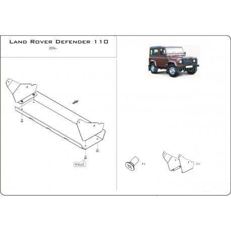 Land Rover Defender 90 / 110 (Abdeckung der Lenkung) - Alluminium
